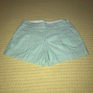 J. Crew Shorts - J. Crew Green/White Seersucker Shorts Sz 00